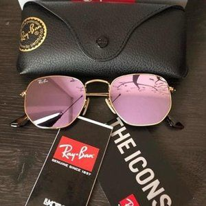 New Authentic Ray-Ban Hexagonal RB3548N 001/Z2 54m